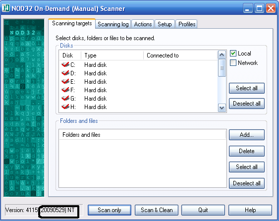 eset nod32 on demand scanner 20090529 for windows 2000 xp